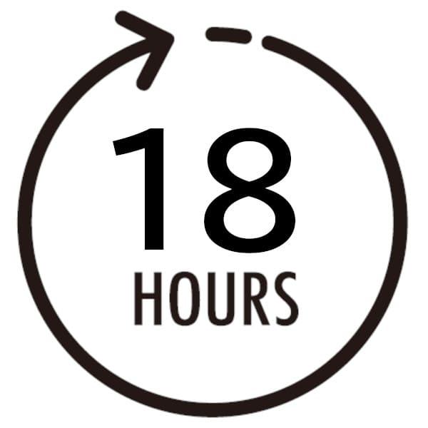 18時間待ちます