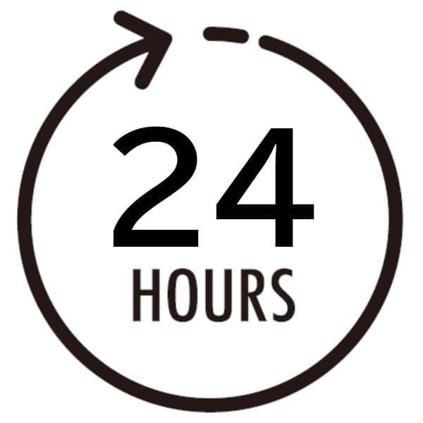24時間待ちます